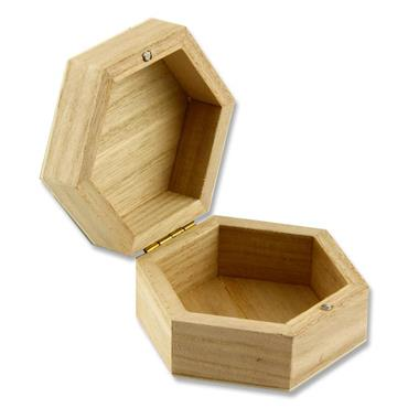 Icon Craft 90x45mm Wooden Box - Hexagon
