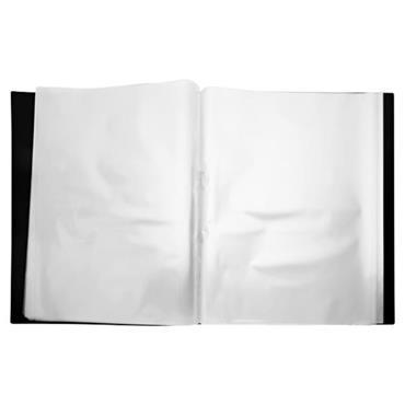 PREMIER OFFICE A2 40 POCKET PRESENTATION DISPLAY BOOK - BLACK
