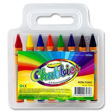 Woc Pkt.8 Super Jumbo Chubby Crayons