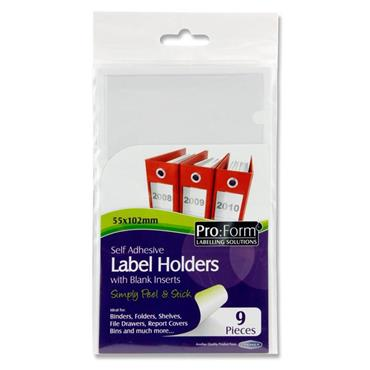 Pro:form Pkt.9 Self Adhesive Label Holders & Inserts - 55x102mm