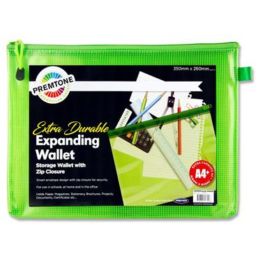 Premto A4+ Extra Durable Mesh Wallet - Caterpillar Green