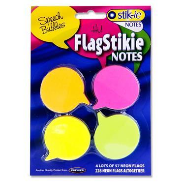 Stik-ie Card 4 Sticky Notes - Speech Bubbles