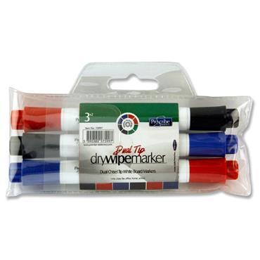 Pro:scribe Pkt.3 Twin Tip Whiteboard Marker