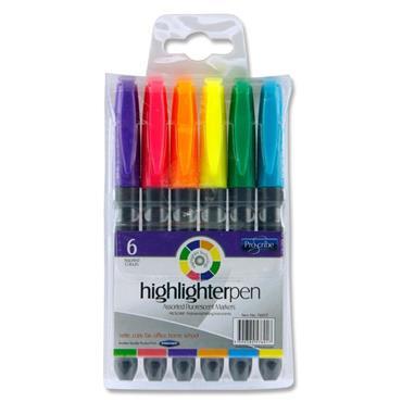 Pro:scribe Pkt.6 Asst Highlighter Pens