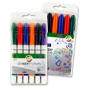 Pro:scribe Pkt.6 Asst Whiteboard Markers