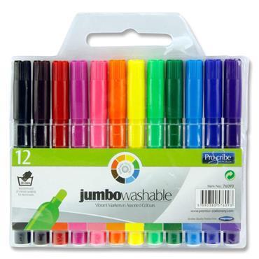 Pro:scribe Pkt.12 Washable Jumbo Markers