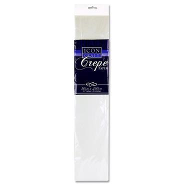 Icon Craft 50x250cm 17gsm Crepe Paper - White