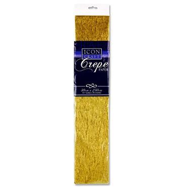 Icon Craft 50x250cm 17gsm Crepe Paper - Gold