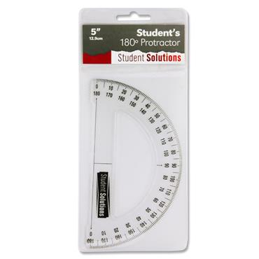 Student Solutions 12.9cm 180* Protractor