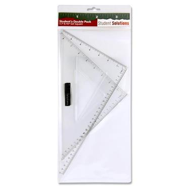 STUDENT SOLUTIONS 2 PACK SET SQUARES