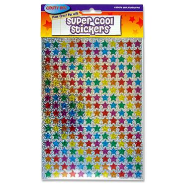 Crafty Bitz Super Cool Holographic Stickers - Small Star