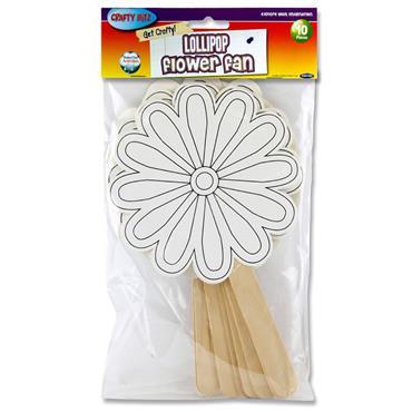 Crafty Bitz Pkt.10 Fans - Lollipop Flower