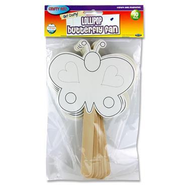 Crafty Bitz Pkt.10 Fans - Lollipop Butterfly