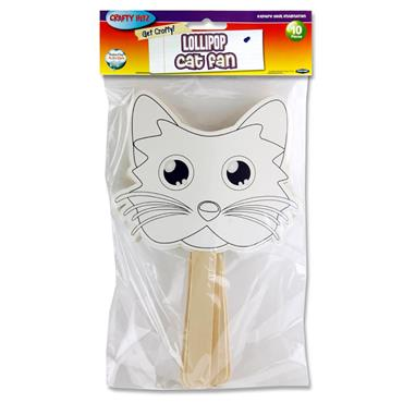 Crafty Bitz Pkt.10 Fans - Lollipop Cat