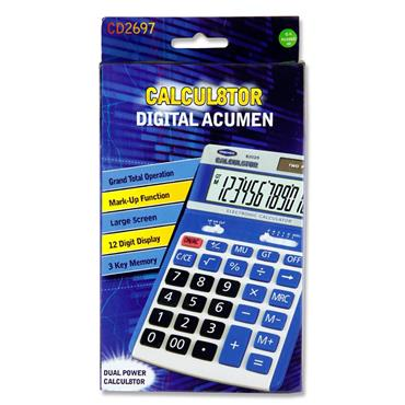 Calcul8tor Cd-2697-12 12 Digit Desktop Calculator
