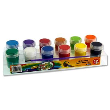 Woc 12x20g Poster Paint Tubs In Platform W/brush