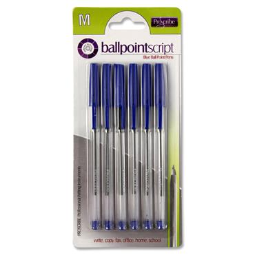 Pro:scribe Card 6 Ball Pens - Blue