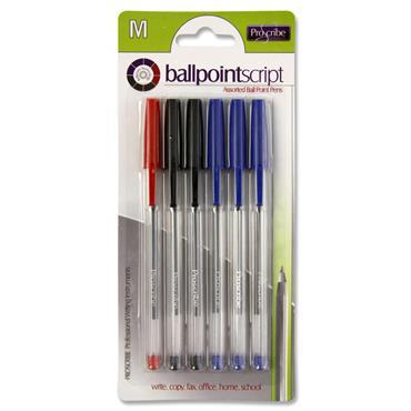 Pro:scribe Card 6 Ball Pens - Asst.