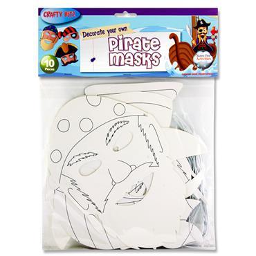 Crafty Bitz Pkt.10 Masks - Pirates