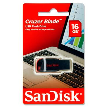 San Disk Cruzer Blade 16gb Usb Flash Drive