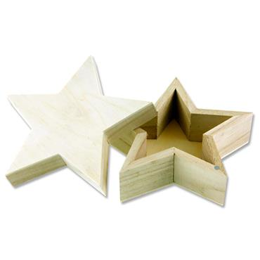 Icon 125x125x53mm Wooden Box - Star