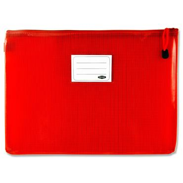 Premto A4+ Extra Durable Mesh Storage Wallet - Ketchup Red