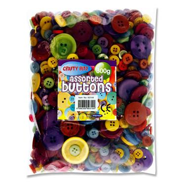 Crafty Bitz 300g Assorted Buttons