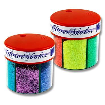 Icon 6 Part Glitter Shaker - Neon
