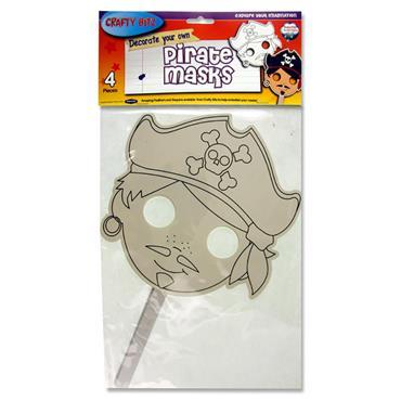 Crafty Bitz Pkt.4 Decorate Your Own Masks - Pirate