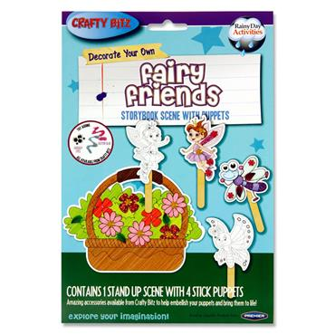 Crafty Bitz Storybook Scene With Puppets - Fairy Friends