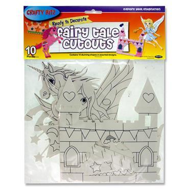 Crafty Bitz Pkt.10 Ready To Decorate Fairy Tale Cutouts