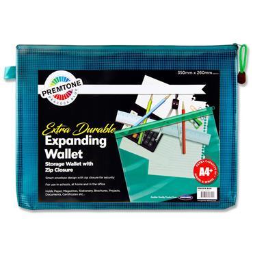 Premto A4+ Extra Durable Mesh Wallet - Peacock Blue