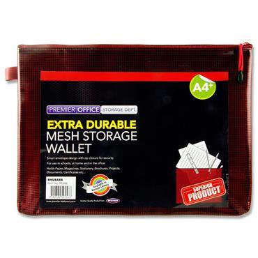 Premto A4+ Extra Durable Mesh Wallet - Rhubarb