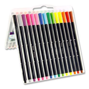 PRO:SCRIBE BOX 30 HEXAGRIP FINELINER PENS - COLOURED