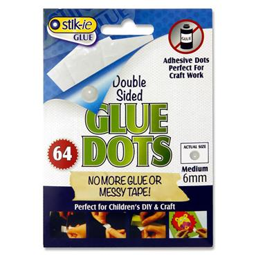 Stik-ie Pack 64 6mm Double Sided Glue Dots