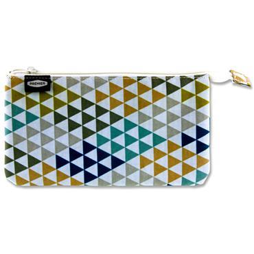 Premier 3 Pocket Flat Pencil Case - Triangles