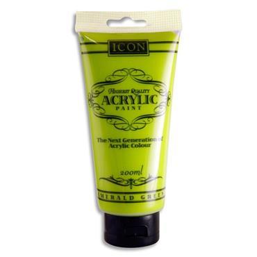Icon Acrylic Paint 200ml - Leaf Green
