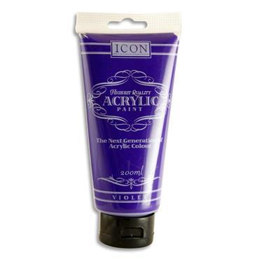 Icon Acrylic Paint 200ml - Violet