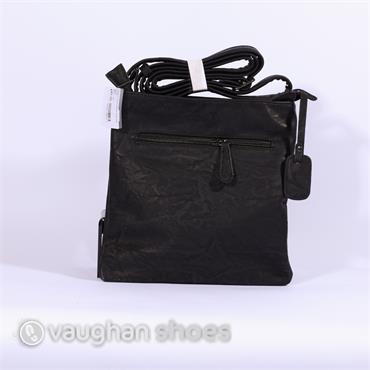 Rieker Crossbody Metallic Combi Bag - Black