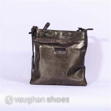Rieker Crossbody Metallic Combi Bag - Bronze
