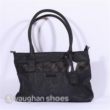 Rieker Shoulder Bag With Shimmer Detail - Navy