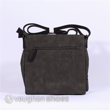 Rieker Crossbody Rhinestone Detail Bag - Grey