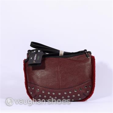 Volum Cross Body With Stud Detail - Bordo