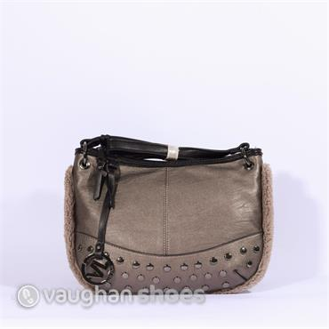 Volum Cross Body With Stud Detail - Platinum