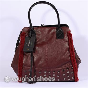 Volum Trapeze Bag With Stud Detail - Bordo