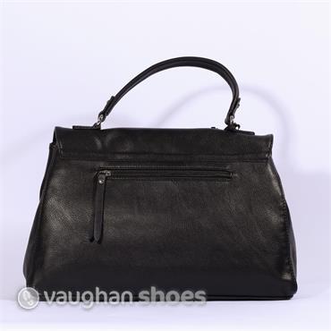 Volum Bowling Bag With Stud Detail - Black