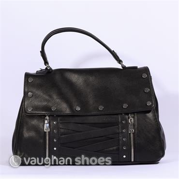 Volum Bowling Bag With Stud Detail - Black