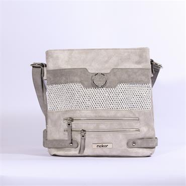 Rieker Crossbody Shimmer Bag - Silver/shimmer