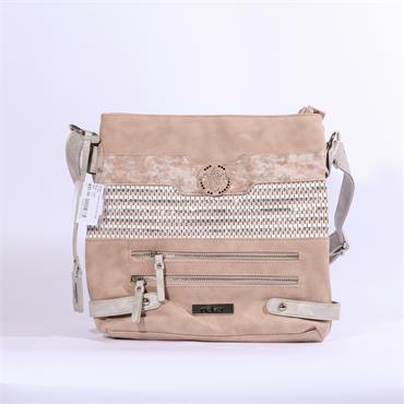 Rieker Crossbody Shimmer Bag - Rose Combi