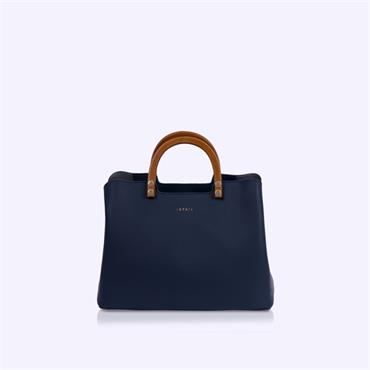 Inyati Inita Top Wooden Handle Bag - Midnight